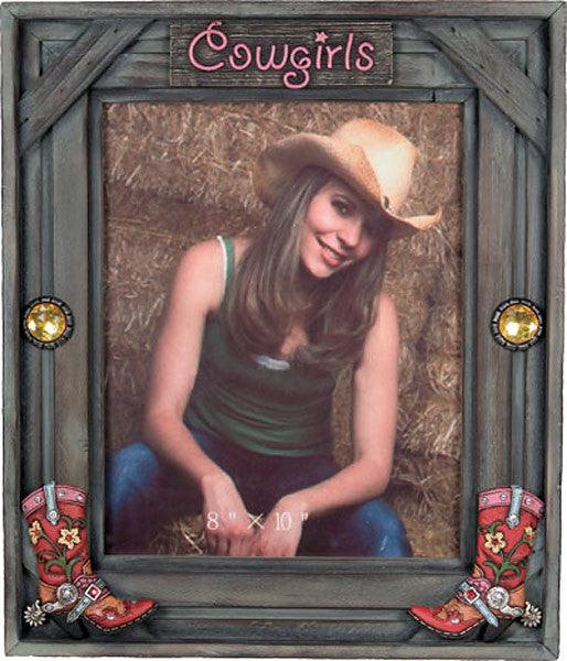 Wooden Western Cowgirls 8x10 Photo Frame 503