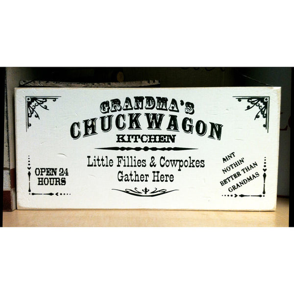 Grandma's Chuckwagon Kitchen Sign 35552