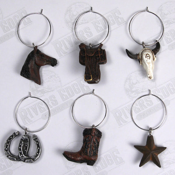 Western Reflections Wine Glass Charms 194