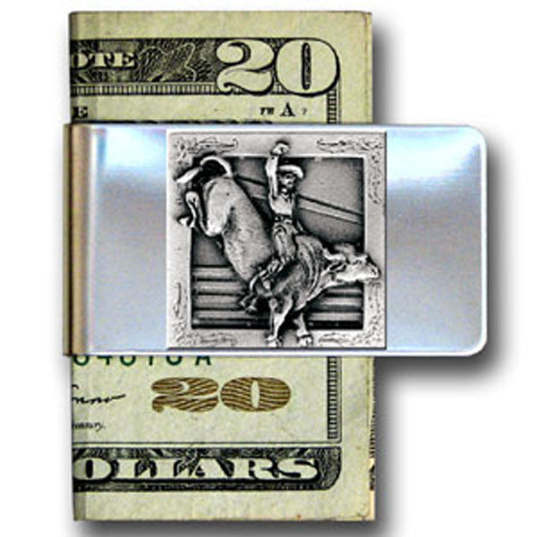 Western Bullrider Money Clip MC-7