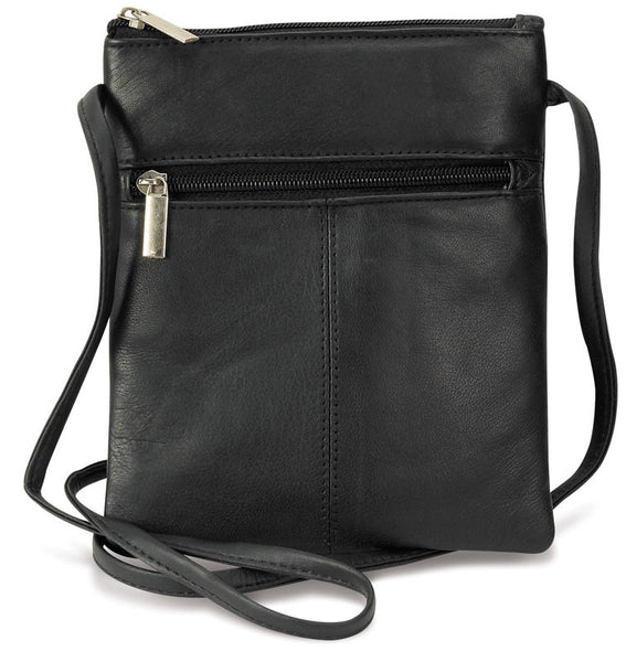 Mini Black Leather Shoulder Purse MIN-1022