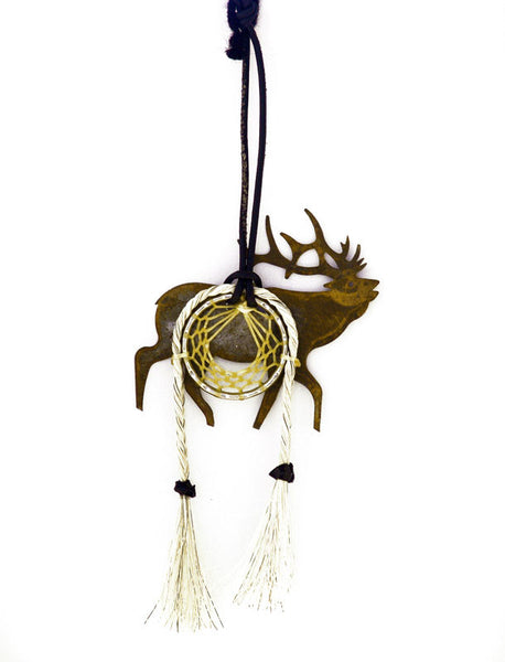 Cowboy Collectibles Natural Horse Hair Elk Dream Catcher DC-E