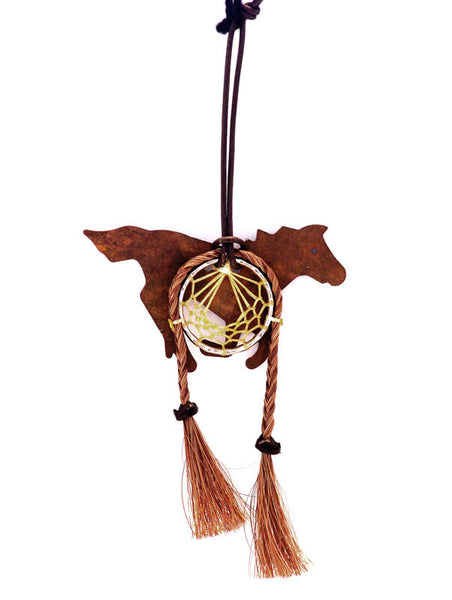 Cowboy Collectibles Natural Horse Hair Running Horse Dream Catcher DC- H