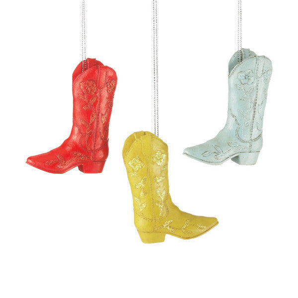 Western Christmas Colorful Cowboy Boot Ornaments 649343