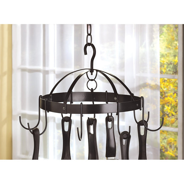 Mini Round Metal Kitchen Hanging Pot Rack
