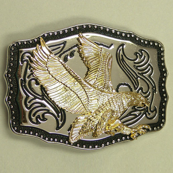 Mens Ladies Gold & Silver American Eagle Belt Buckle ME-18