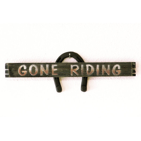 Gone Riding Horseshoe Sign 25915