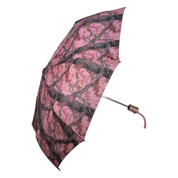 40 Inch Windproof Fall Transition Pink Camo Folding Umbrella 178
