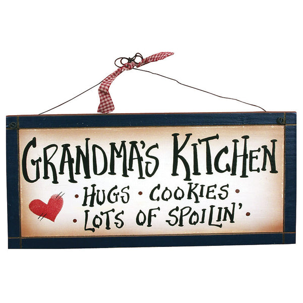 Grandma's Kitchen Hugs Cookies Lots of Spoiling Sign 21919