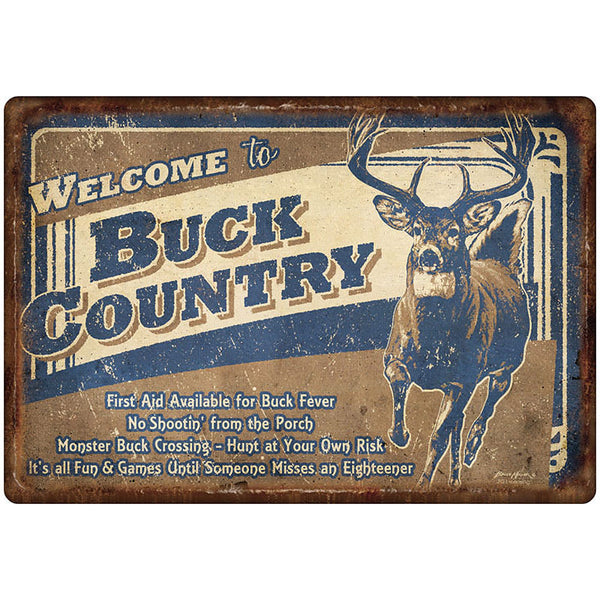 Welcome to Buck Country Sign 1534