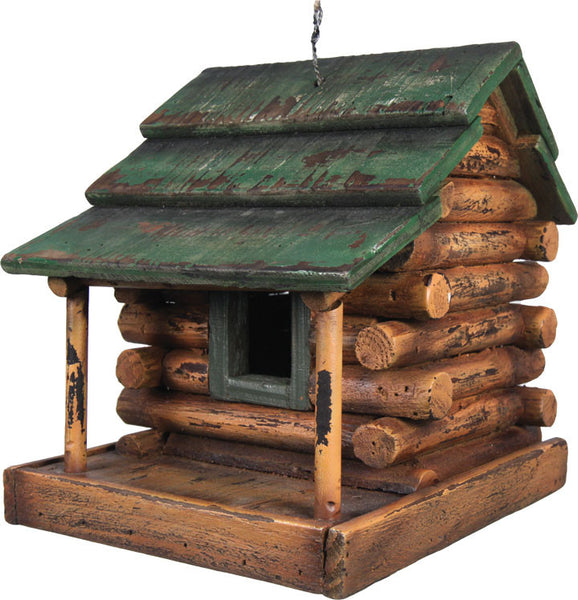 Wooden Log Cabin Bird House 624