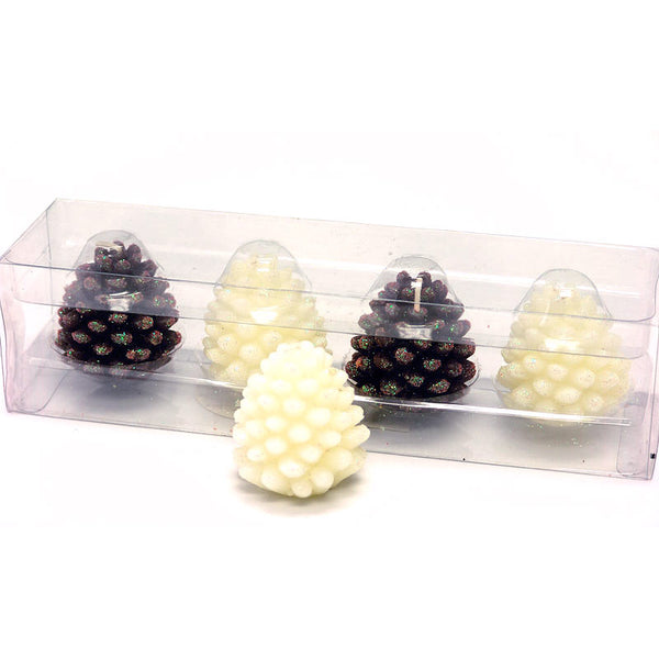 Glittering Holiday Pine Cone Candles 1425080