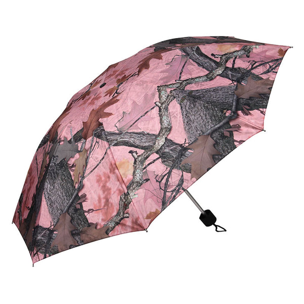 42 Inch Compact Fall Transition Pink Camouflage Umbrella 248