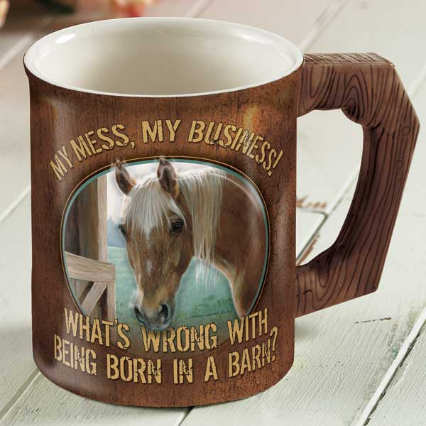 Wild Wings My Mess My Business Horses Sculpted Coffee Mug 8955712181