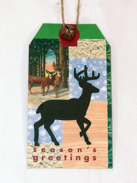 Season's Greetings Deer Christmas Ornament X0273