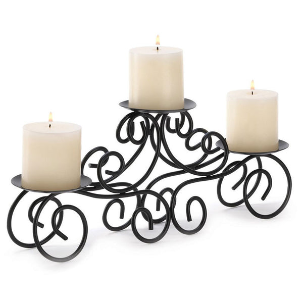 Wrought Iron Candle Centerpiece 14198