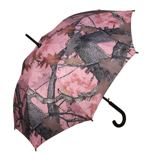 45 Inch Fall Transition Pink Camouflage Full Size Umbrella 253
