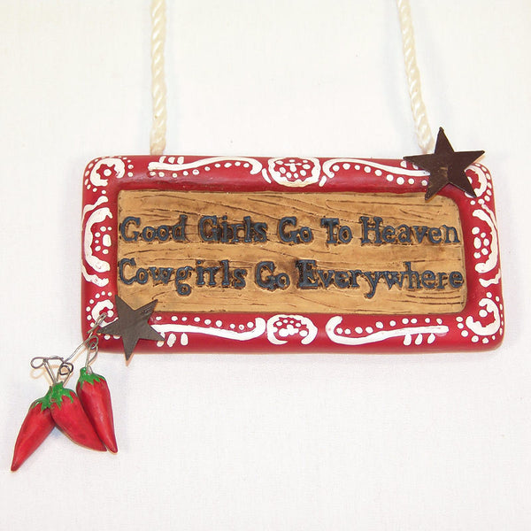 Cowgirls Go Everywhere Christmas Ornament X0126