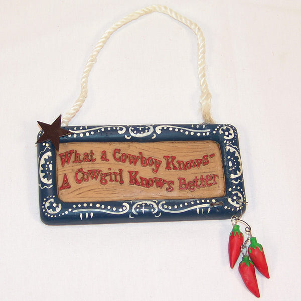 A Cowgirl Knows Better Christmas Ornament X0127