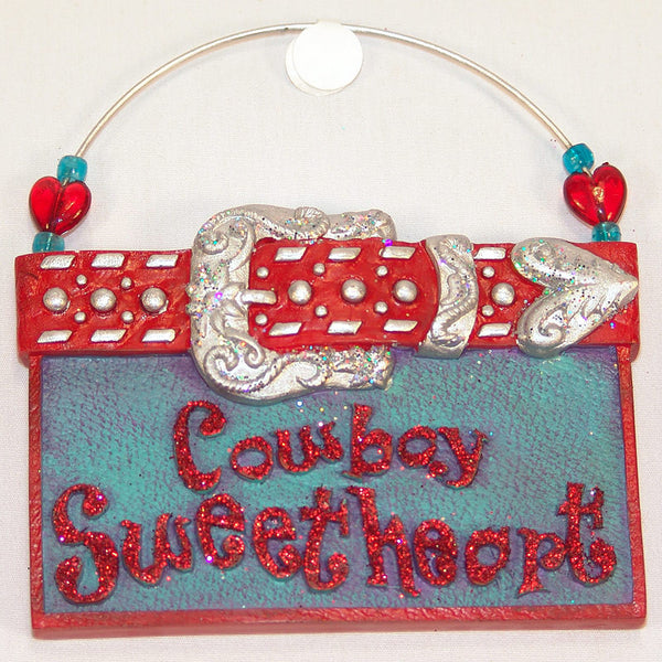 Cowboy Sweetheart Christmas Ornament X0137