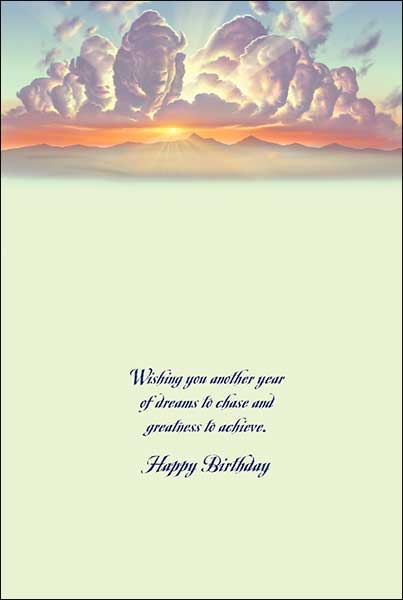 Leanin' Tree Wishing You Another Year of Dreams Buffalo Birthday Card