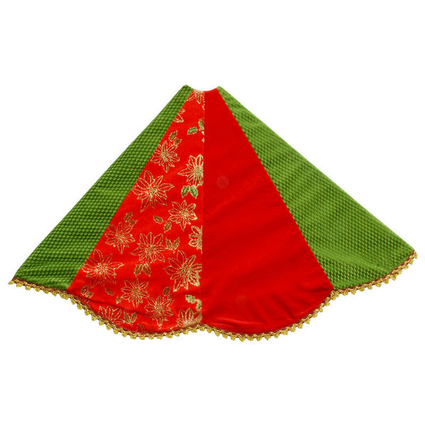 48 Inch Red & Green Patchwork Tree Skirt 1177861