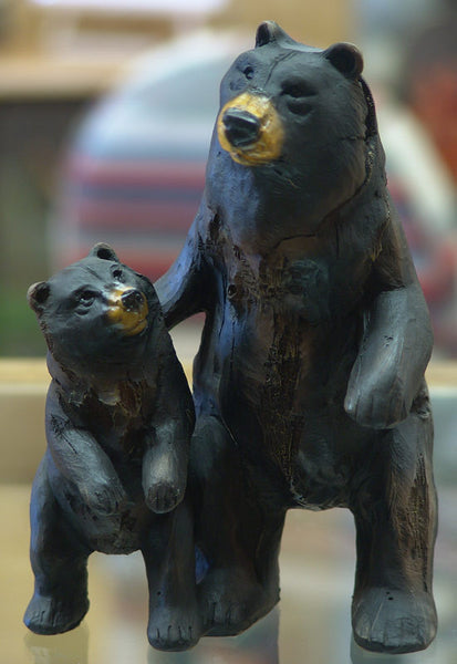 Black Bears Mama and Cub Figurines 1416120A