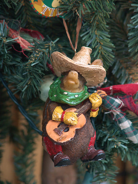 Texas Armadillo with Guitar Christmas Ornament 1407420