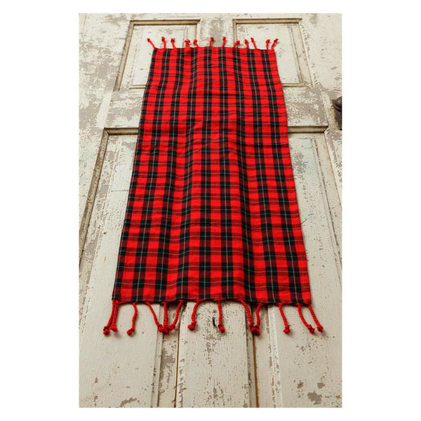 Red and Black Tartan Plaid Table Runner