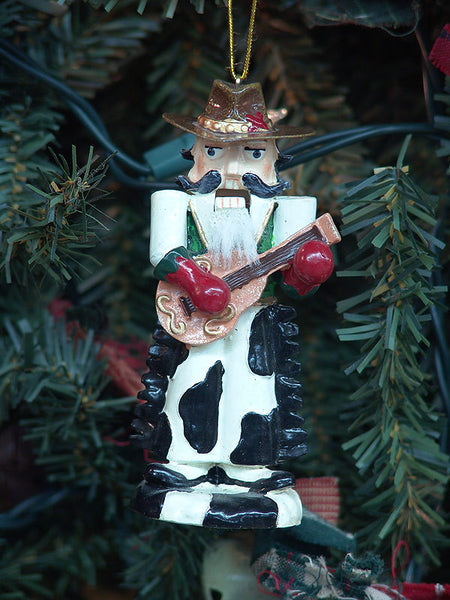 Cowhide Cowboy Nutcracker Christmas Ornament X0366