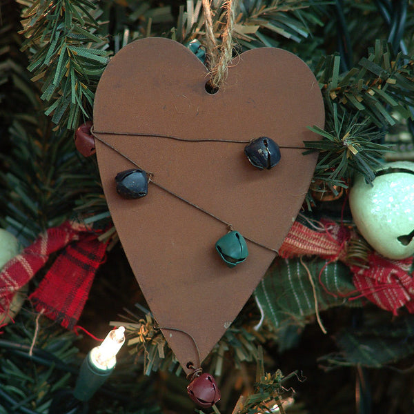 Metal Jingle Bells Heart Christmas Ornament 1416600