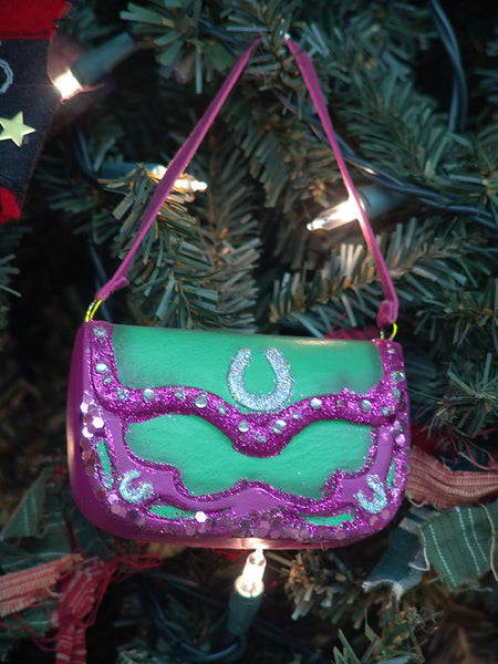 Pink Bling Purse Christmas Ornament G0330