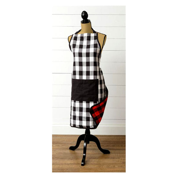 Reversible Buffalo Plaid Kitchen Apron