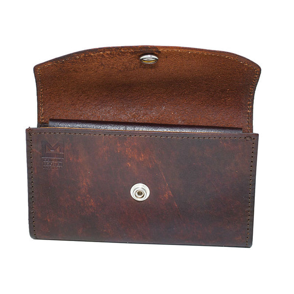 Ladies Brown Leather Organizer Wallet