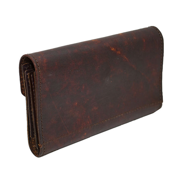 Ladies Brown Roses Leather Organizer Wallet Lw 706