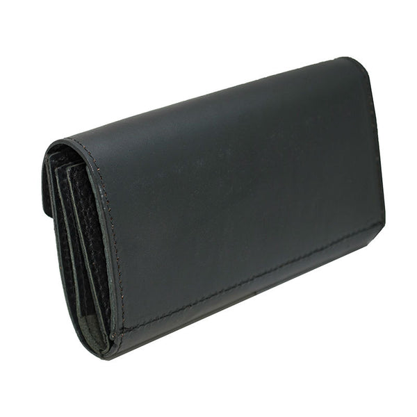 Ladies Black Leather Organizer Wallet
