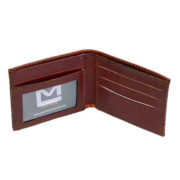 Route 66 Brown Leather Bifold Wallet