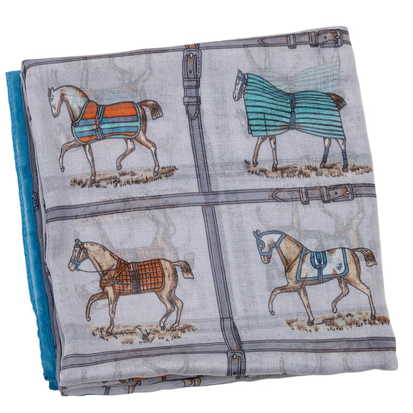 Horses In Blankets Infinity Scarf