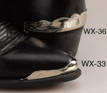 Silver Plated Cowboy Boot Heel Guards