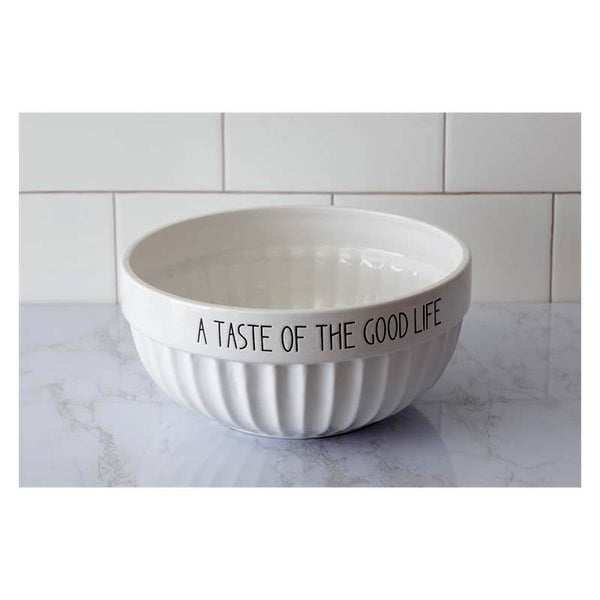 A Taste Of The Good Life Ceramic Serving Bowl 8PT1209