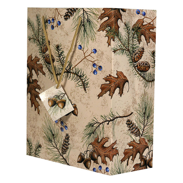 Acorn and Pine Cones Medium Gift Bag 382