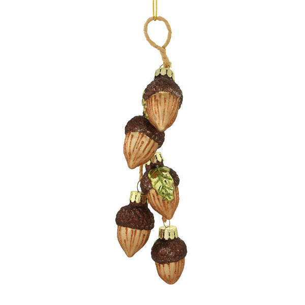 Acorn Cluster Glass Ornament 1202672
