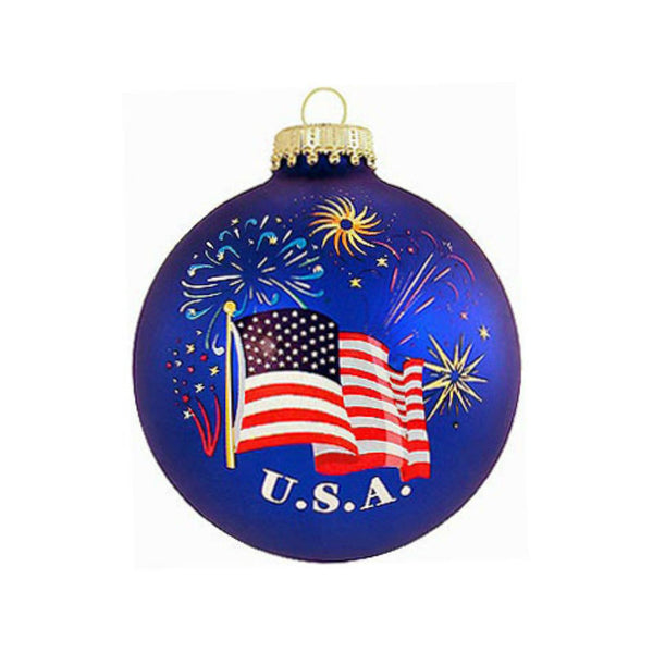 American Flag Glass Ornament 1118502
