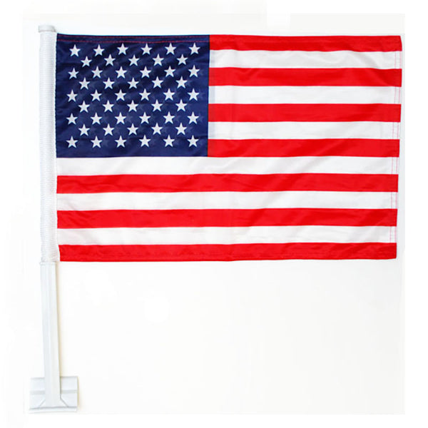 American Stars and Stripes Car Window Flag 12x18 FLAG-8673