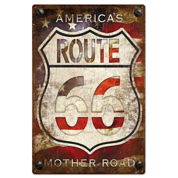 America's Mother Road Route 66 Tin Sign SGN-566