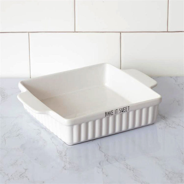 Bake It Sweet Ceramic Brownie Pan 8PT1334