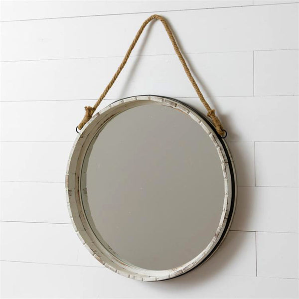 Barrel Lid Wall Mirror 8WH814