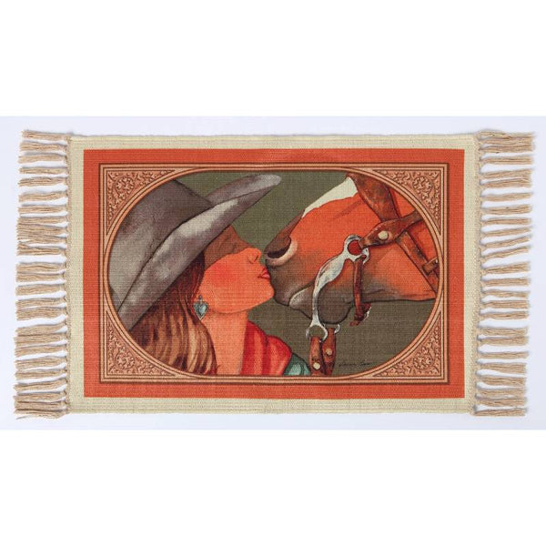 Best Pals Cowgirl Digital Print Placemat W-DMAT110
