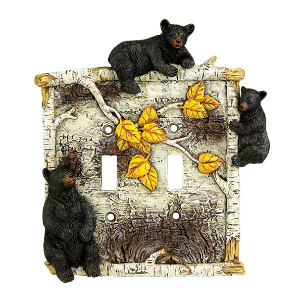 Birch Bears Double Light Switch Cover 612