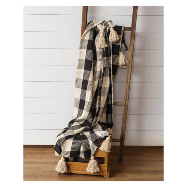 Black Buffalo Check Blanket Throw 8FA1082